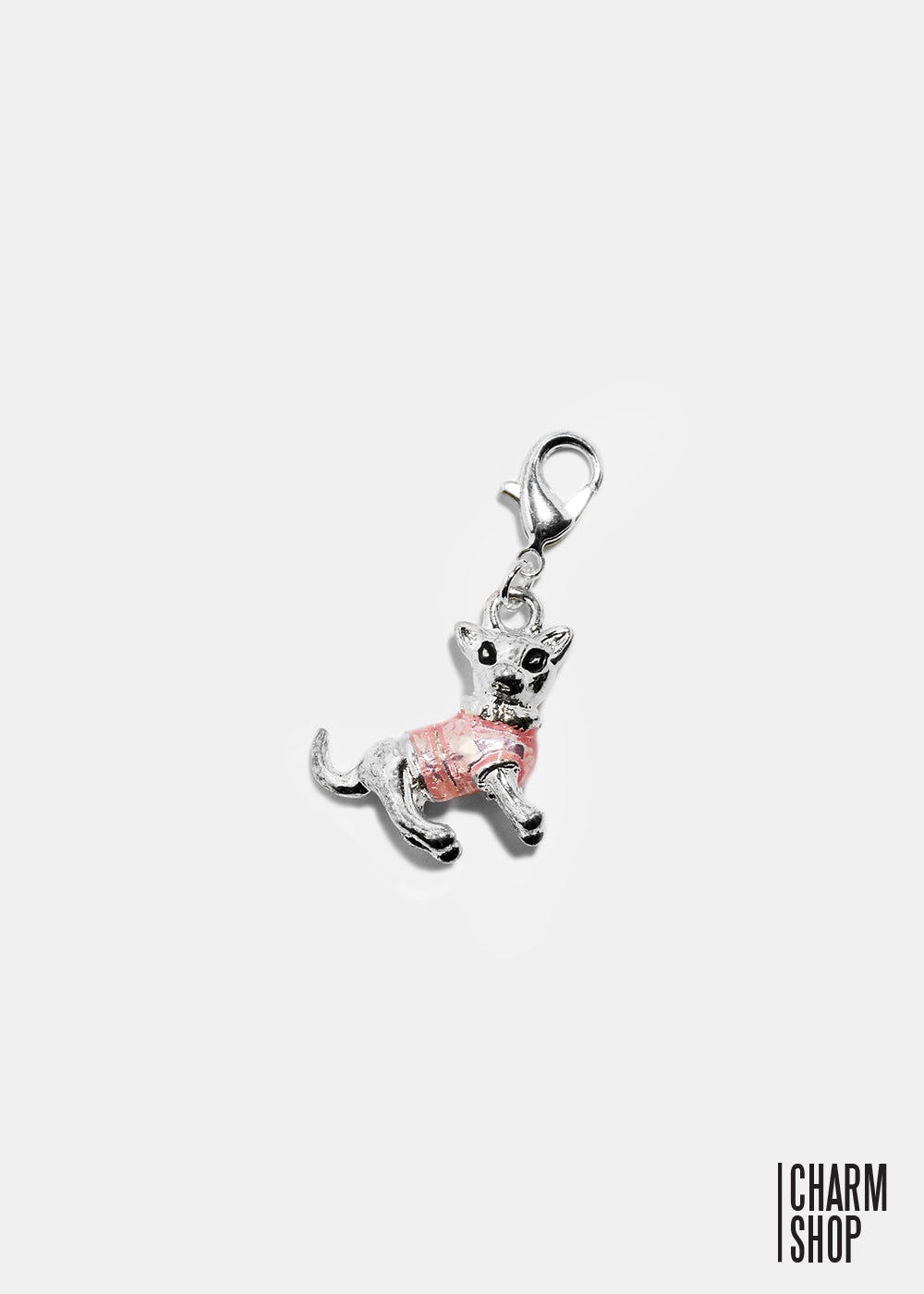 Dog in Pink Sweater Dangle Charm