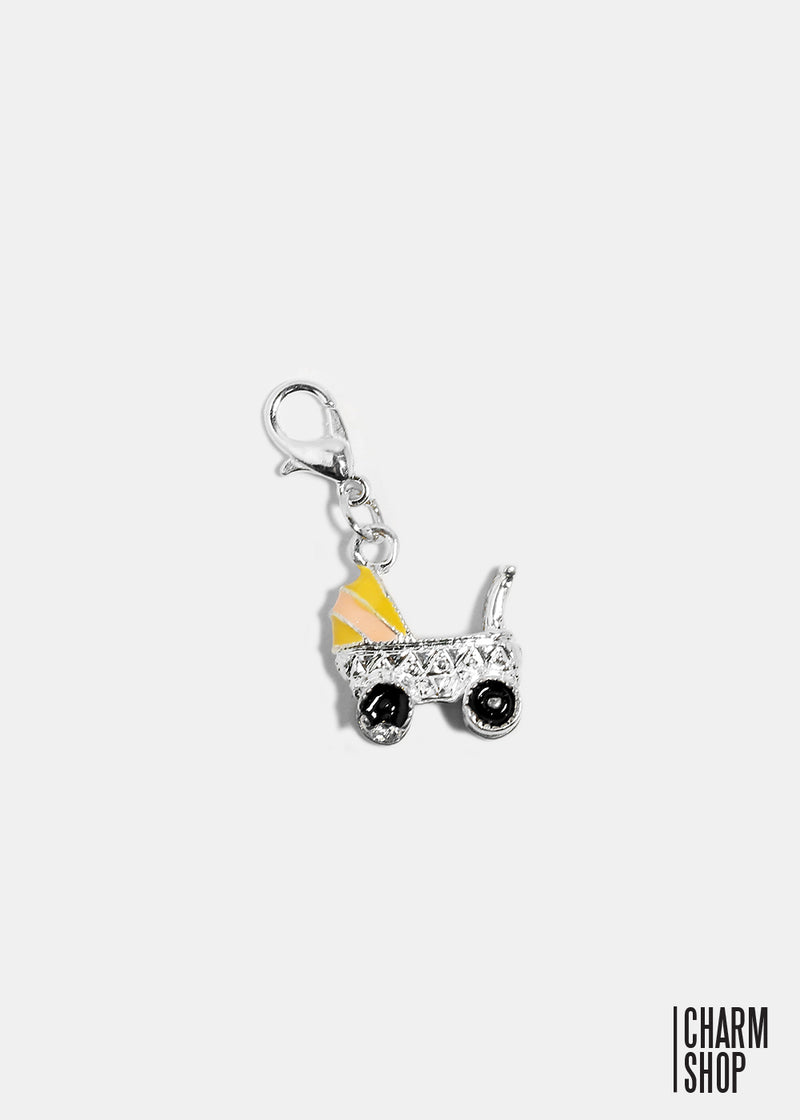 Baby Carriage Dangle Charm