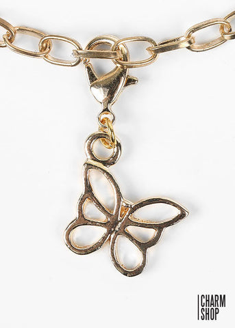 Gold Butterfly Dangle Charm