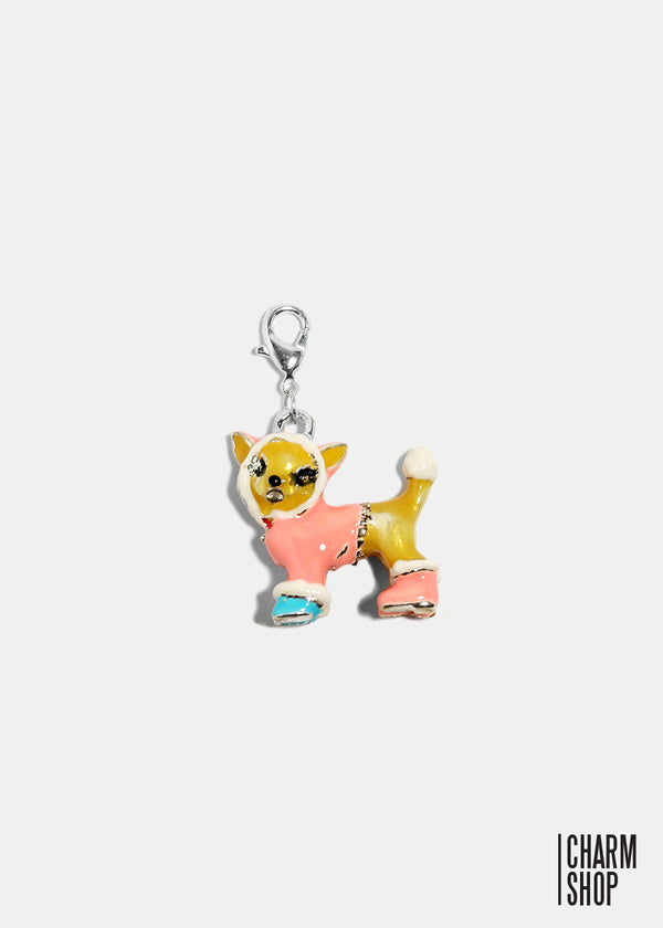 Prissy Puppy Dangle Charm