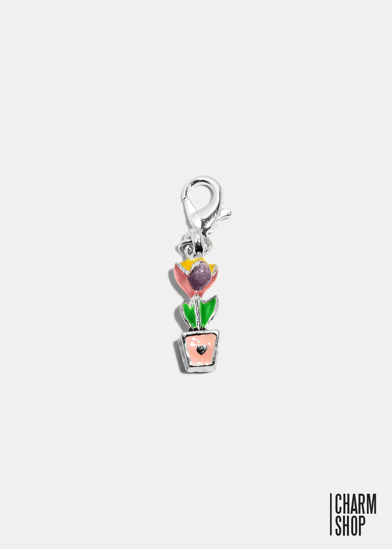 Flower Pot Dangle Charm