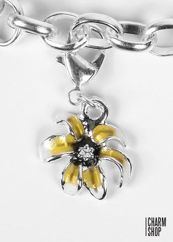 Exotic Yellow Flower Dangle Charm