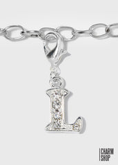Studded Initial L Dangle Charm