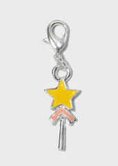Yellow Star Wand Dangle Charm