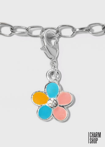 Colorful Flower Dangle Charm
