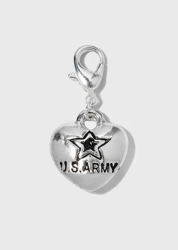 U.S Army Heart Dangle Charm