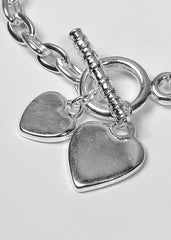 Classic Heart Dangle Foundation Bracelet (20cm)