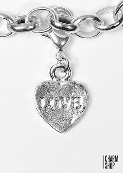 Love Heart Dangle Charm