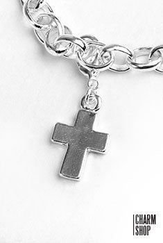 Silver Cross Dangle Charm