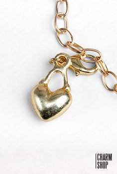 Gold Heart Dangle Charm