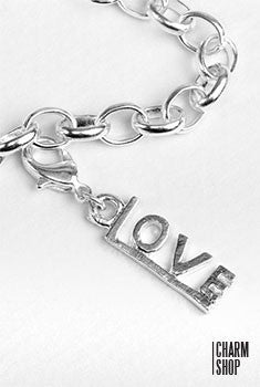 Silver Love Pendant Dangle Charm