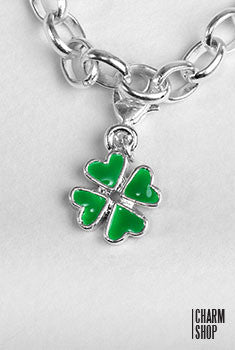 Four Leaf Clover Dangle Charm