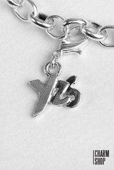 Silver Yes Dangle Charm