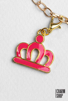 Pink Princess Crown Dangle Charm