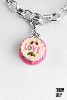 Love Birthday Cake Dangle Charm