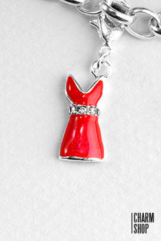Perfect Red Dress Dangle Charm