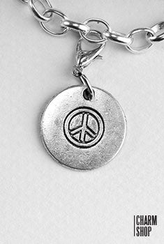 Circle Peace Pendant Dangle Charm