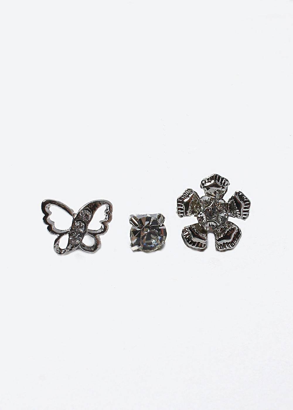 6 Pair Cherry & Butterfly Stud Set