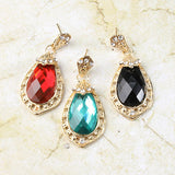 Gemstone Teardrop Earrings