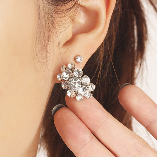 Crystal Cluster Earring Set (3 Pair)