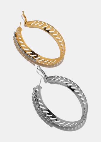 Arrow Cut out Hoop Earrings