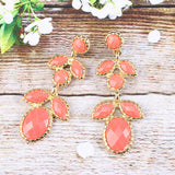 Oval & Petal Stone Earrings