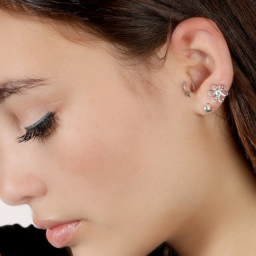 Flower Mix Stud Earrings (5 Pair)