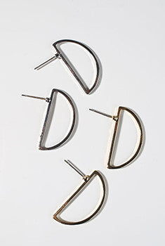 Modern Half Circle Earrings