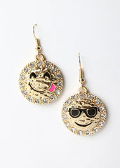Gold Emoji Earrings
