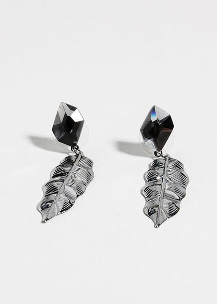 Leaf & Gem Earrings