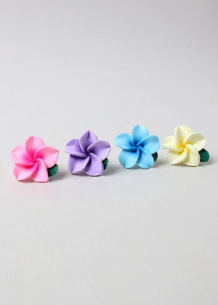 2 Pair Plumeria Earrings
