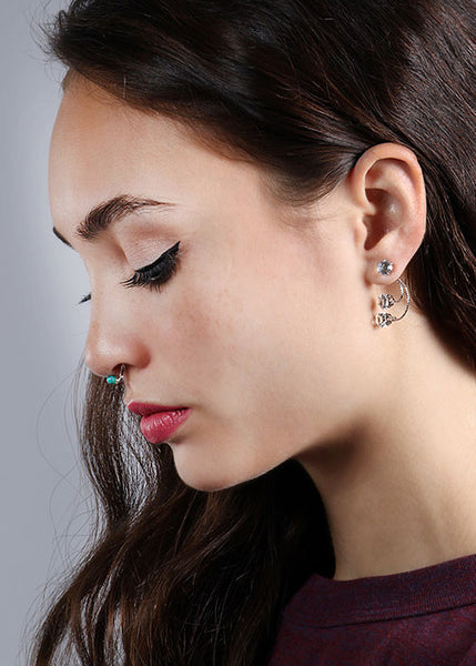 Swoop Gemstone Earrings