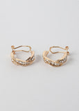 Twist Rhinestone Hoop Earrings