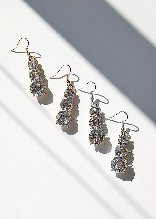 Linear Gemstone Earrings