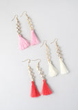 Tassel & Clover Drop Earrings