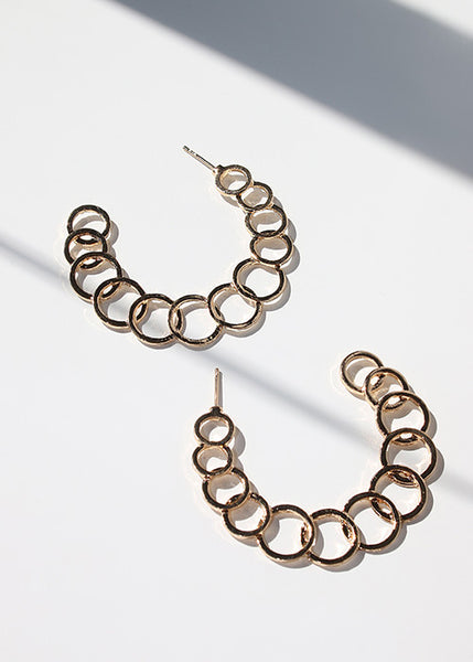 Connected Loop Hoop Earrings