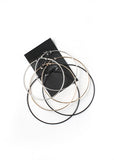 3 Pair Large Multi Hoop Set