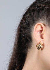 Layered Small Hoop Clip-On Earrings