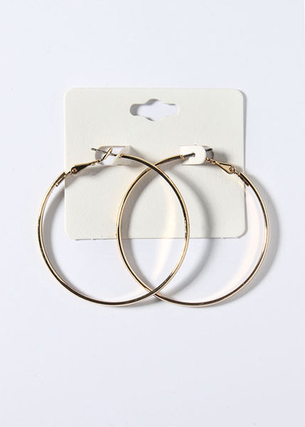 Classic Gold Hoop Earrings (3 Sizes)