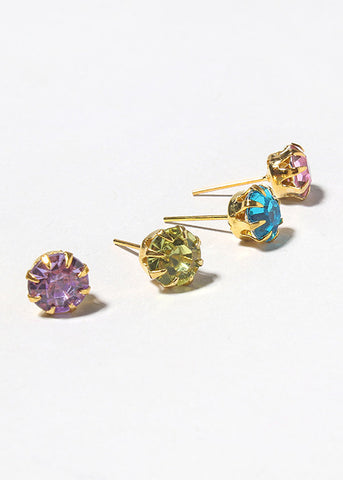 12 Pair Variety Gem Stud Set