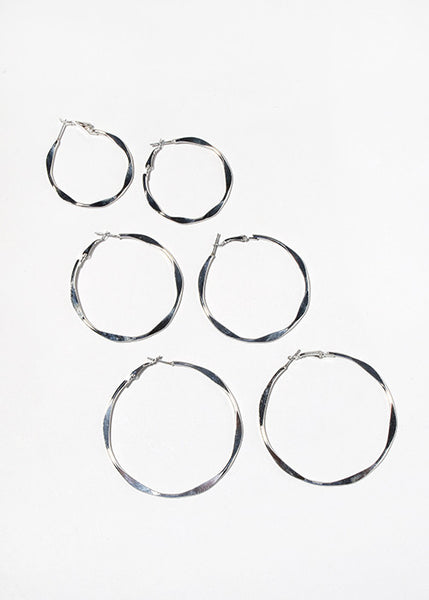 Flat Wave Hoop Earrings
