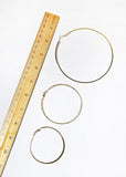 3 Pair Mixed Texture Hoop Set