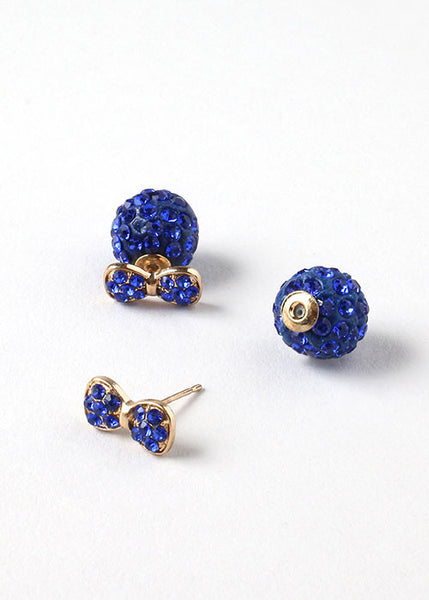 Rhinestone Two-Sided Earrings