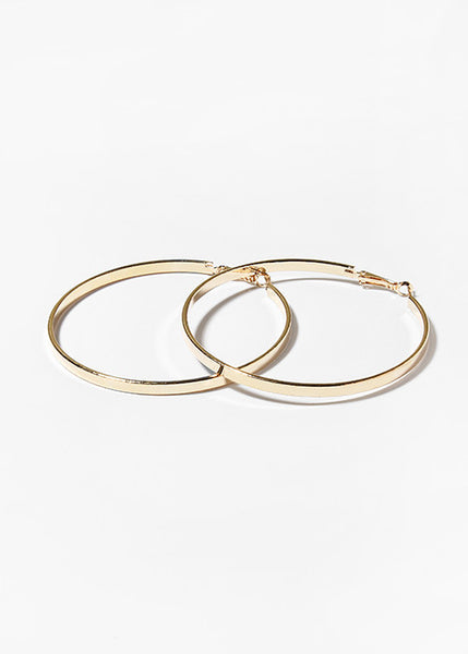 Medium Flat Hoop Earrings