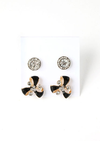 2 Pair Pinwheel Stud Set