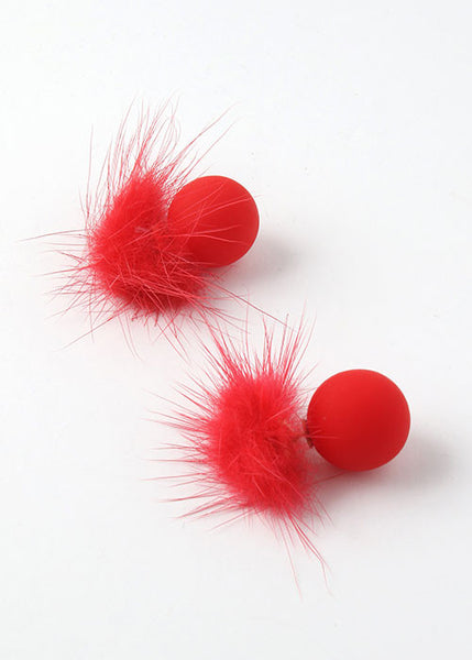 Pom-Pom Double Sided Earrings