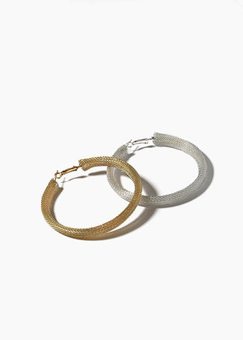 Mesh Metal Hoop Earrings
