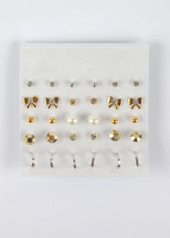 12 Pair Feminine Earring Set