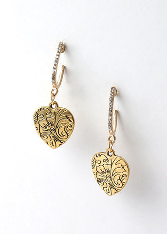 Filigree Heart Dangle Earrings