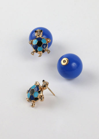 Turtle & Ball Two-Sided Earrings